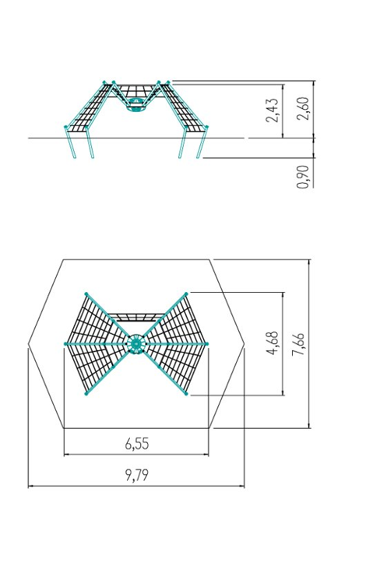 Technical drawing Spider